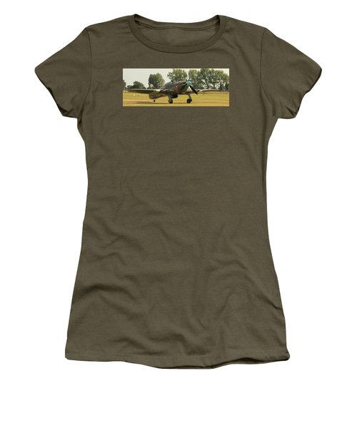 Hawker Hurricane Taxing Women's T-Shirt (Athletic Fit)