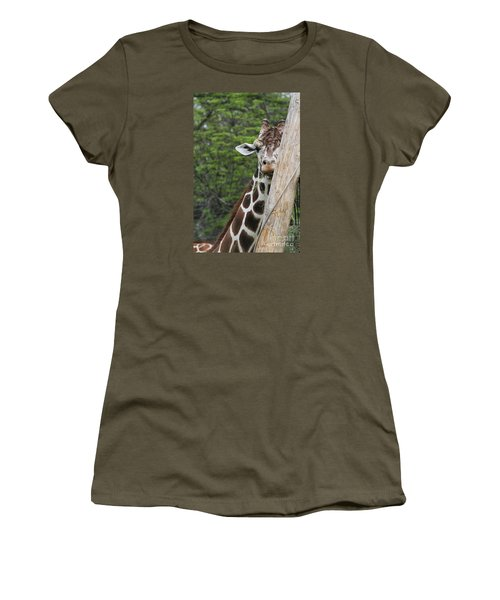 Women's T-Shirt (Junior Cut) featuring the photograph Hay Not Just For Horses by Judy Whitton