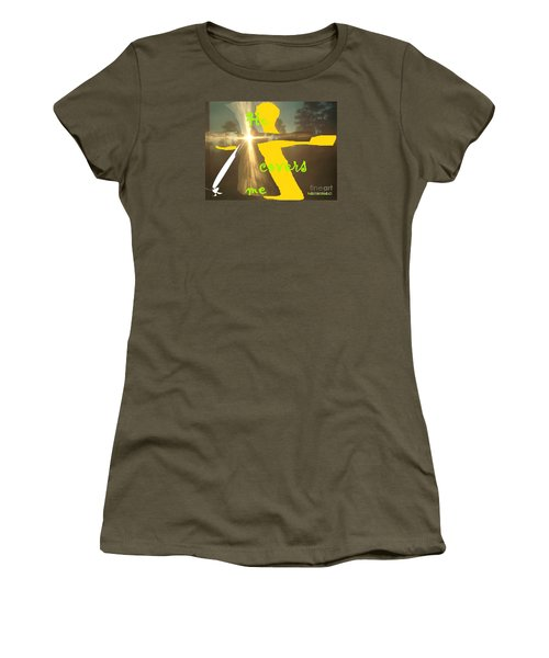 Women's T-Shirt (Junior Cut) featuring the photograph He Covers Me Lll by Robin Coaker