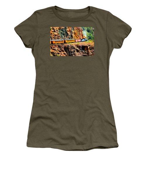 Headed Up The Grade Women's T-Shirt (Junior Cut) by Michael Pickett