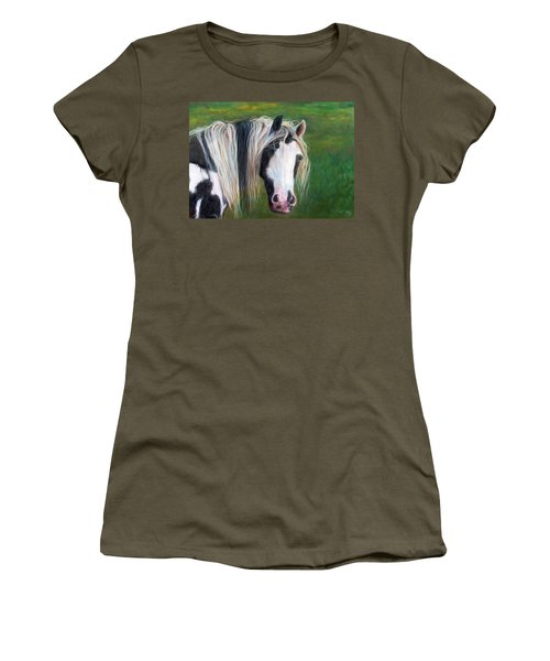 Women's T-Shirt (Junior Cut) featuring the painting Heart by Karen Kennedy Chatham