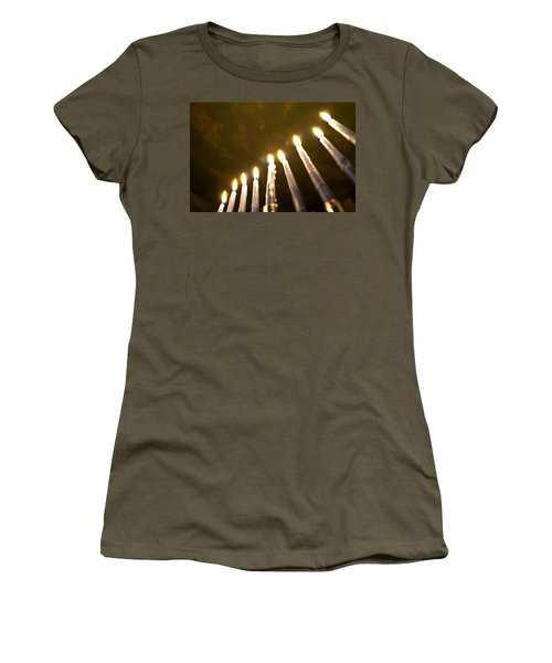 Heavenly Lights Women's T-Shirt (Junior Cut) by Tikvah's Hope