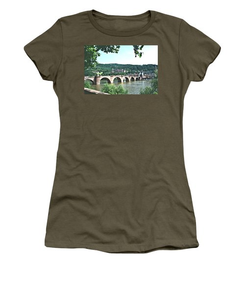 Heidelberg Schloss Overlooking The Neckar Women's T-Shirt (Athletic Fit)