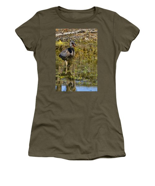 Women's T-Shirt (Junior Cut) featuring the photograph Heimlich Please by Gary Holmes