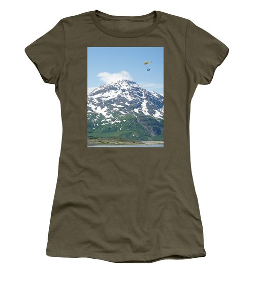 Helicopter Flying A Load Of Rafting Women's T-Shirt