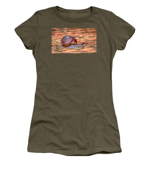 Women's T-Shirt (Junior Cut) featuring the photograph Helix Aspersa by Rob Sellers
