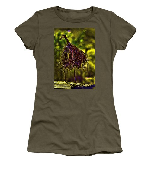 Women's T-Shirt (Junior Cut) featuring the photograph Heron Totem by Gary Holmes