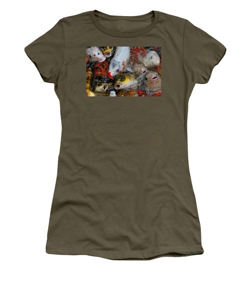 Women's T-Shirt (Junior Cut) featuring the photograph Hey Whats Happening by Wilma  Birdwell