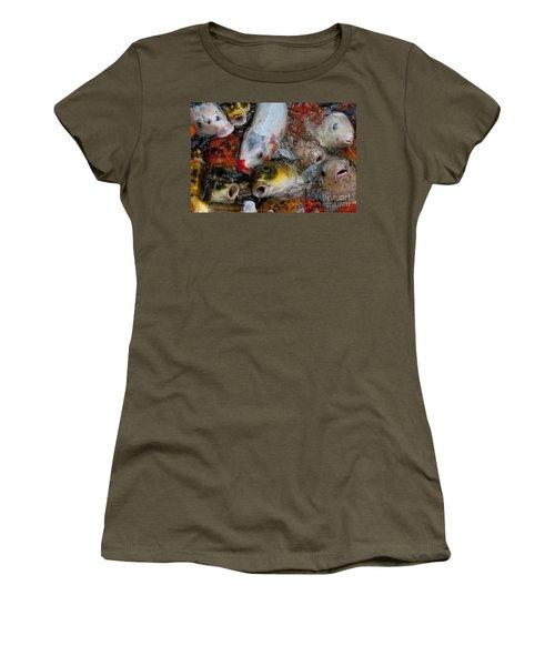 Hey Whats Happening Women's T-Shirt (Junior Cut) by Wilma  Birdwell