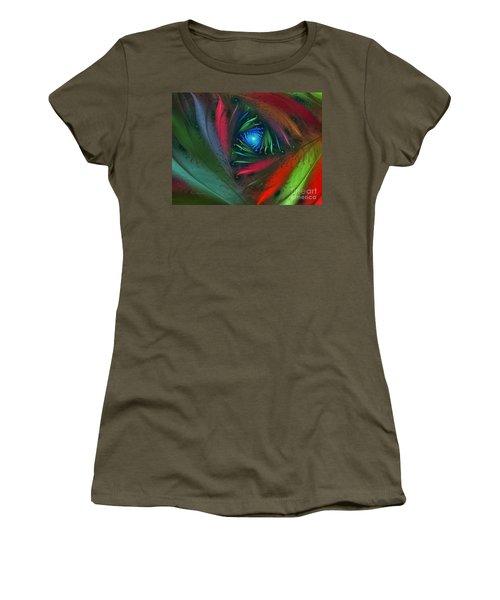 Hidden Jungle Plant-abstract Fractal Art Women's T-Shirt