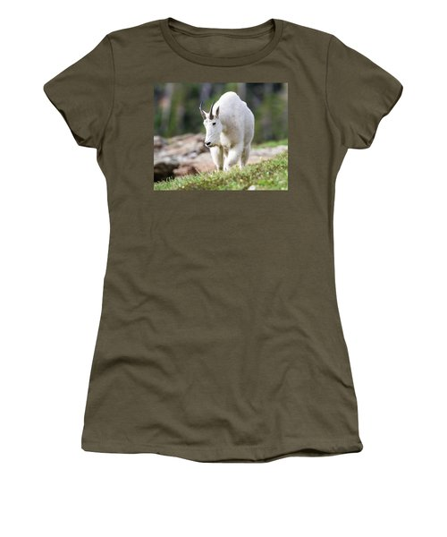 Women's T-Shirt (Junior Cut) featuring the photograph High Country Mountain Goat by Jack Bell