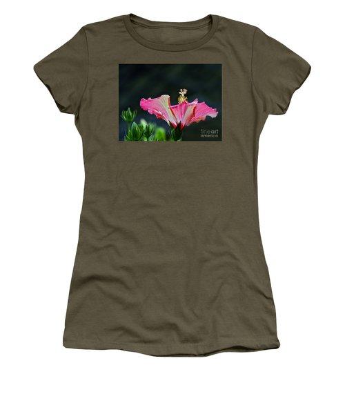 High Speed Hibiscus Flower Women's T-Shirt