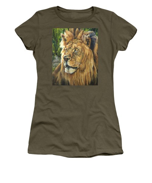 Him - Lion Women's T-Shirt (Junior Cut) by Lori Brackett