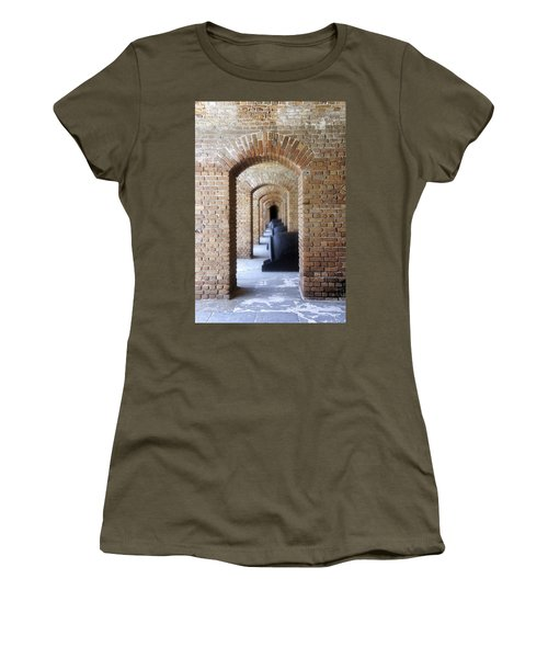 Women's T-Shirt (Junior Cut) featuring the photograph Historic Hallway by Laurie Perry