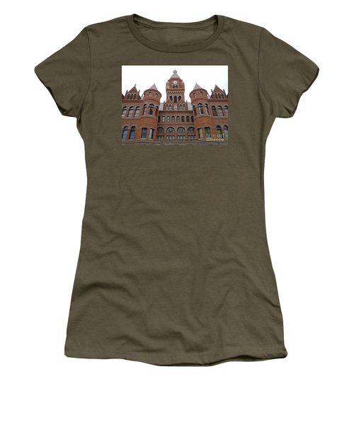 Women's T-Shirt (Junior Cut) featuring the photograph Historic Old Red Courthouse Dallas #1 by Robert ONeil