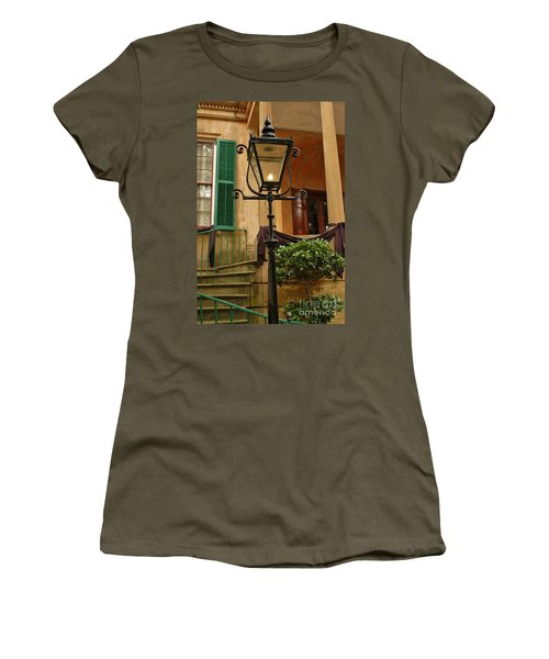 Women's T-Shirt (Junior Cut) featuring the photograph Historical Gas Light by Patrick Shupert