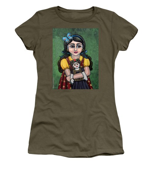 Holding Frida With Butterfly Women's T-Shirt