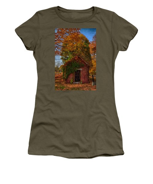 Women's T-Shirt (Junior Cut) featuring the photograph Holding Up The  Fall Colors by Jeff Folger