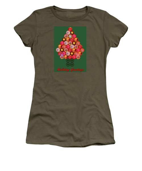 Holiday Tree Of Orbs 3 Women's T-Shirt (Junior Cut) by Nick Kloepping