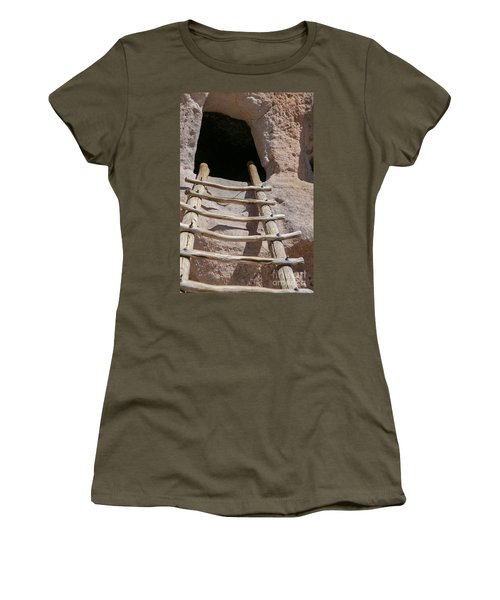 Home In Frijoles Canyon Women's T-Shirt (Junior Cut) by Lynn Sprowl
