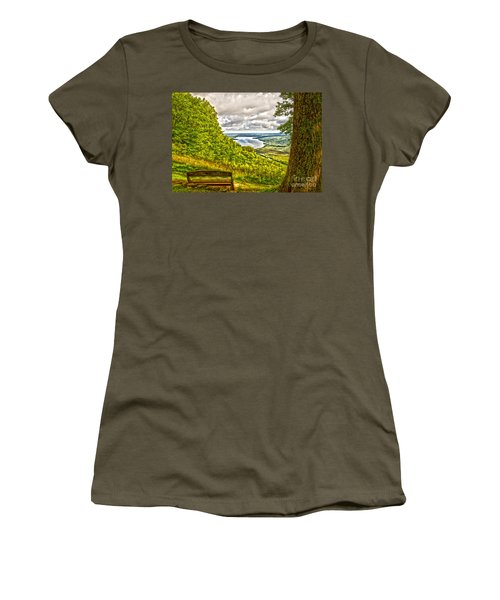 Honeoye Lake Overlook Women's T-Shirt (Athletic Fit)