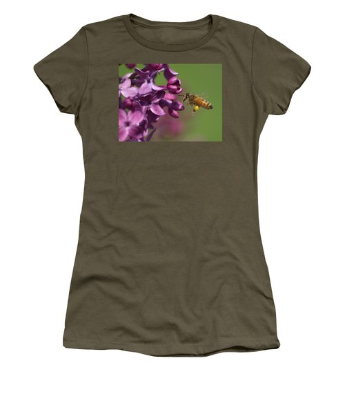 Honey Bee And Lilac Women's T-Shirt (Athletic Fit)