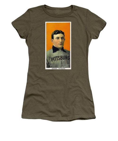 Honus Wagner Baseball Card 0838 Women's T-Shirt