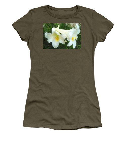 Women's T-Shirt (Junior Cut) featuring the digital art Hope Is Risen by Lianne Schneider