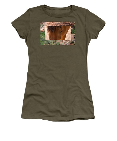Horse And Canyon Women's T-Shirt