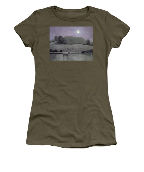 Horse In Moonlight, 2005 Oil On Canvas Women's T-Shirt