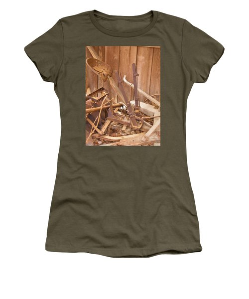 Women's T-Shirt (Junior Cut) featuring the photograph Horsedrawn Disc by Nick Kirby