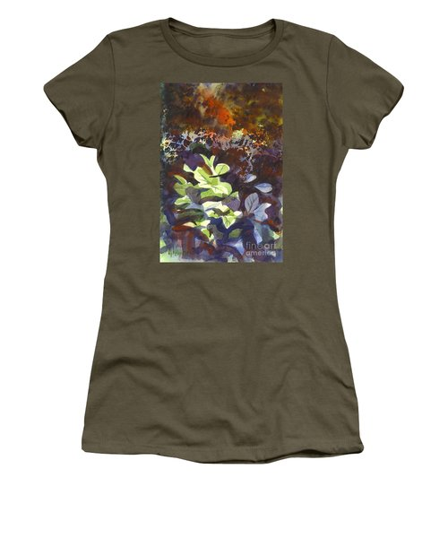 Hostas In The Forest Women's T-Shirt (Junior Cut) by Kip DeVore