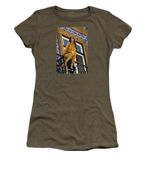 Hot Summer Day In Portugal Women's T-Shirt (Junior Cut) by Michael Cinnamond