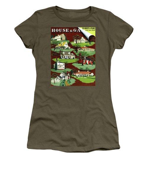 House & Garden Cover Illustration Of 9 Houses Women's T-Shirt