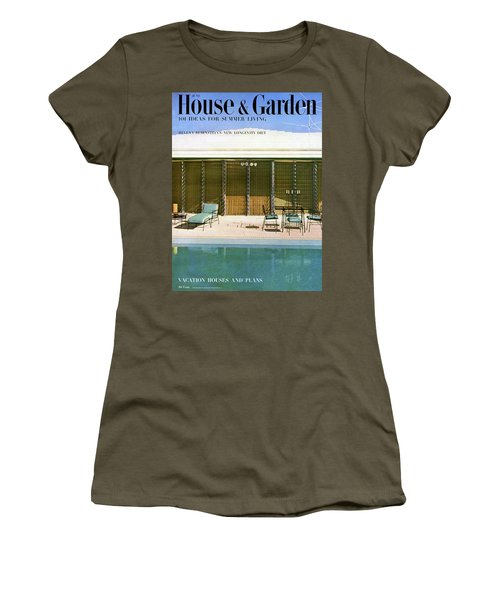House & Garden Cover Of A Swimming Pool At Miami Women's T-Shirt