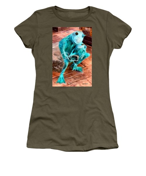 Howard County Library - Miller Branch - Reading Frogs Women's T-Shirt