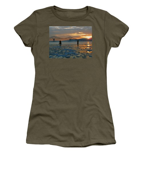 Hudson River Icey Sunset Women's T-Shirt (Athletic Fit)