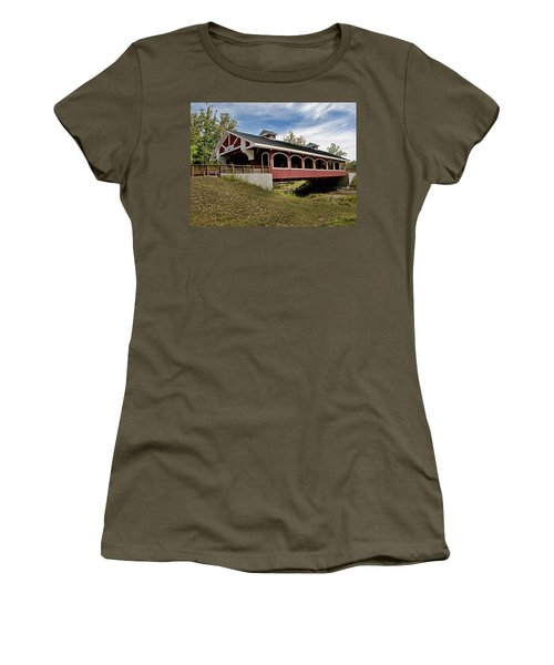 Hueston Woods Covered Bridge Women's T-Shirt (Athletic Fit)