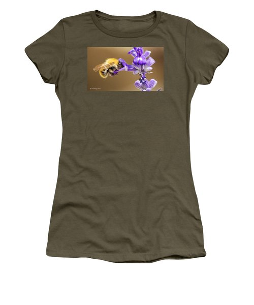 Women's T-Shirt featuring the photograph Humming Bee  by Stwayne Keubrick