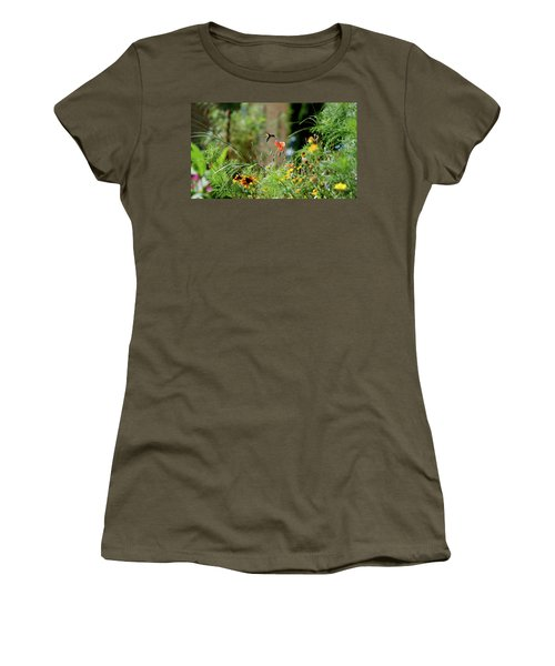 Women's T-Shirt (Junior Cut) featuring the photograph Humming Bird by Thomas Woolworth