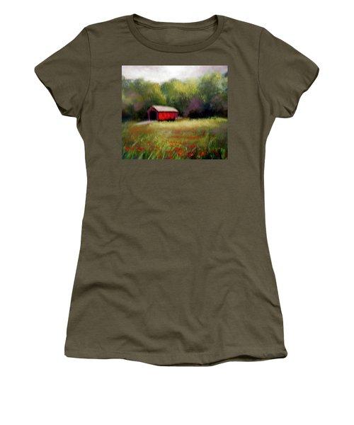 Hune Bridge Women's T-Shirt (Junior Cut) by Gail Kirtz