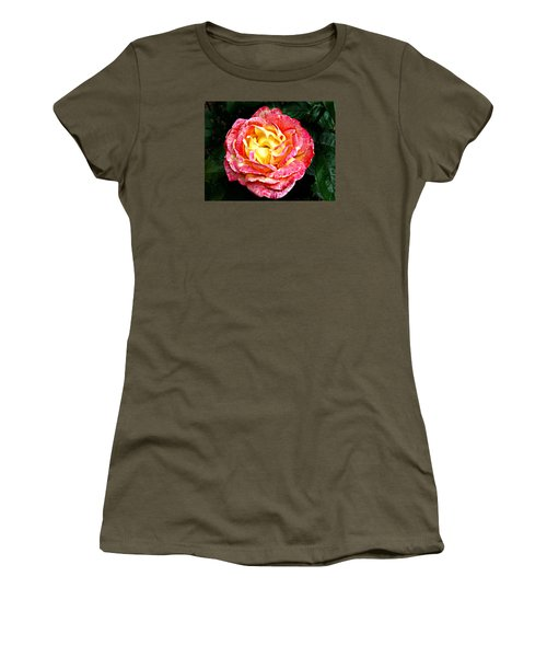 Women's T-Shirt (Junior Cut) featuring the photograph Hybrid Tea Rose ' Love And Peace ' by William Tanneberger