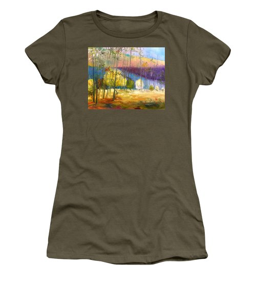 Women's T-Shirt (Junior Cut) featuring the painting I See A Glow by John Williams