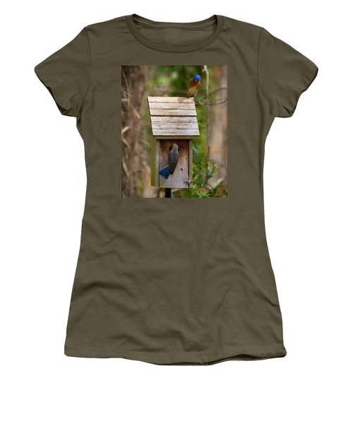Women's T-Shirt featuring the photograph I Think I Like This One Honey. You Have To See The Inside by Robert L Jackson