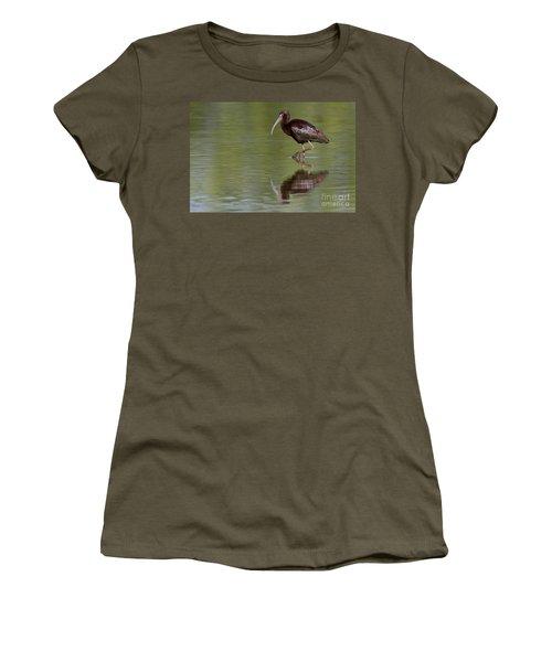 Ibis Reflection Women's T-Shirt (Junior Cut) by Bryan Keil
