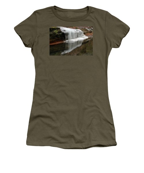 Icicle Reflection  Women's T-Shirt (Athletic Fit)