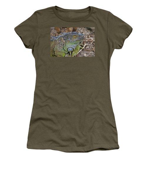 Women's T-Shirt (Junior Cut) featuring the photograph Iguana by Olga Hamilton
