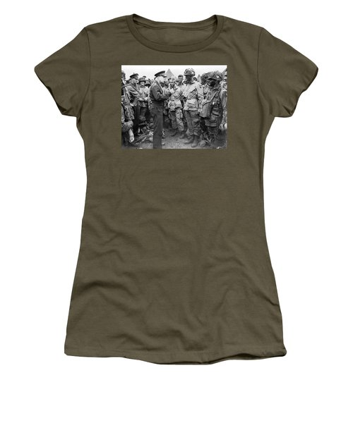 Ike With D-day Paratroopers Women's T-Shirt