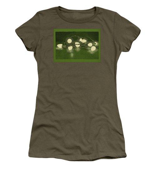 Women's T-Shirt (Junior Cut) featuring the drawing Illumination Variation #1 by Meg Shearer