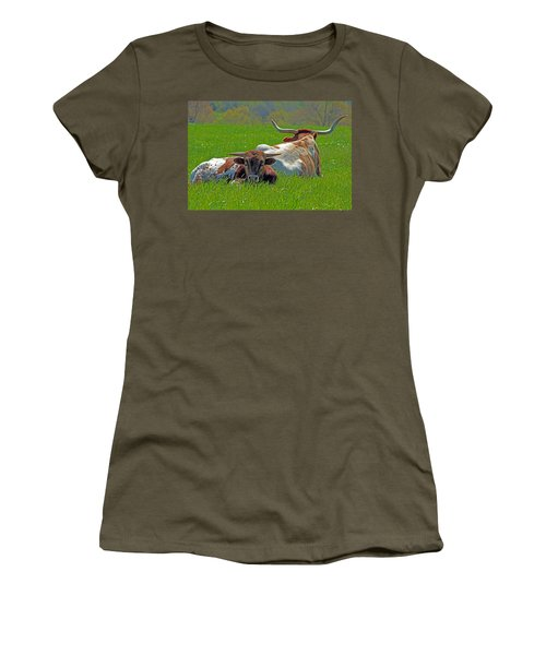 Women's T-Shirt (Junior Cut) featuring the photograph I'm Just A Baby by Lynn Sprowl